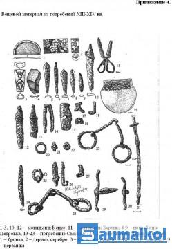 Вещевой материал из погре